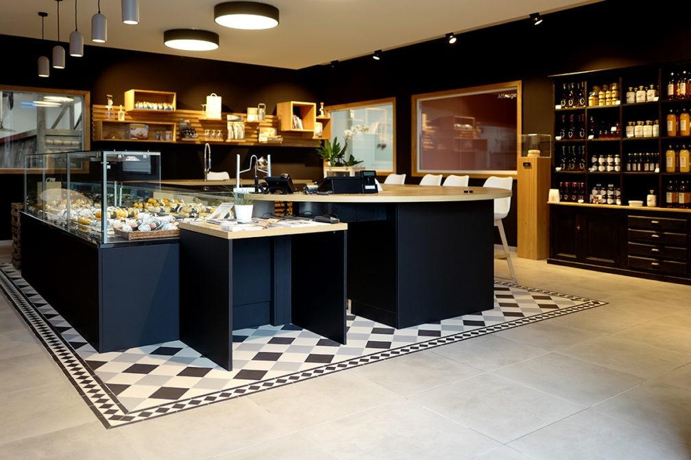 La boutique de la Fromagerie Sainte Godeleine